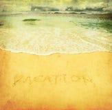 Imagem de Grunge de uma praia Imagens de Stock