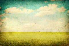 Imagem de Grunge do campo verde Imagens de Stock Royalty Free