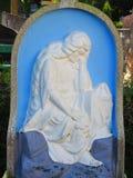 Imagem de Jesus Christ no cemitério foto de stock royalty free
