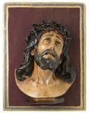 Imagem de madeira de Jesus Christ imagem de stock