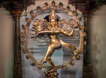 Imagem de Nataraj do deus hindu Shiva fotos de stock