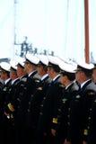 Imagem de oficiais da navigação na formação da parada Fotografia de Stock Royalty Free