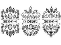 Imagem de Oktoberfest 3 em um fundo branco ilustração do vetor