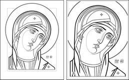 Imagem de Oplechnaya outline7-8 do Virgin Imagem de Stock Royalty Free