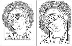 Imagem de Oplechnaya outline3-4 do Virgin Imagem de Stock Royalty Free