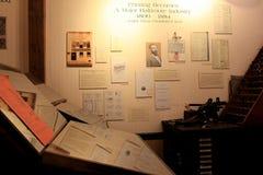 Imagem de originais históricos e espaço temporal da coberta do equipamento da impressão, museu da indústria, Baltimore, Maryland, foto de stock royalty free