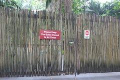 Imagem de portas de madeira fechados Imagem de Stock Royalty Free
