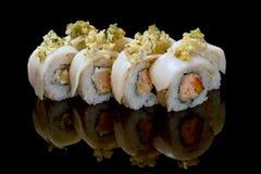 Imagem de rolos de sushi do maki Fotos de Stock Royalty Free