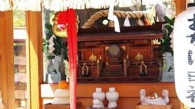 A imagem de santuários japoneses famosos detalha o ajuste das placas Cultura abstrata um curso vídeos de arquivo