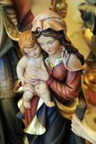 Imagem de St Mary com criança Imagens de Stock