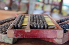 Imagem de um ábaco chinês, calculando, finança, Fotografia de Stock Royalty Free