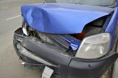 Imagem de um carro após o impacto imagem de stock royalty free
