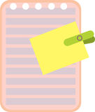 Imagem de um folheto da etiqueta e do escrita-livro Fotografia de Stock Royalty Free