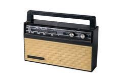 Imagem de um rádio de transistor soviético velho isolado no branco fotos de stock