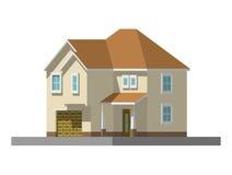 Imagem de uma casa privada Ilustração do vetor Foto de Stock Royalty Free