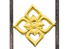 Imagem de uma cerca decorativa do ferro fundido Imagens de Stock Royalty Free