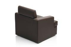 Imagem de uma poltrona de couro preta moderna Foto de Stock Royalty Free