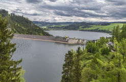 Imagem de uma represa no rio Dunajec Fotografia de Stock