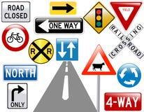 Imagem de vários sinais de estrada Foto de Stock Royalty Free