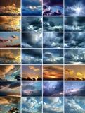 Imagem de variações do cloudscape Fotografia de Stock Royalty Free