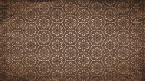 Imagem decorativa do teste padrão do papel de parede do ornamento floral do vintage de Brown escuro ilustração stock