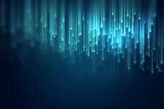 Imagem Defocused do fundo abstrato das luzes das fibras óticas ilustração royalty free