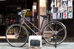 Imagem denominada retro de uma bicicleta do século XIX Imagem de Stock