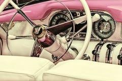 Imagem denominada retro do interior de um século Co de Buick dos anos 50 Fotografia de Stock Royalty Free