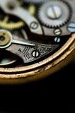 Imagem detalhada do interior de um relógio Fotografia de Stock Royalty Free