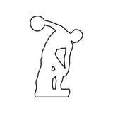 Imagem do ícone da escultura do atirador ou do discobolus de disco ilustração stock