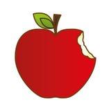 imagem do ícone da maçã ilustração stock