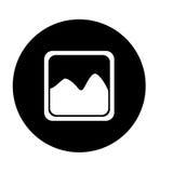 imagem do ícone da unha do polegar da fotografia ou do botão da galeria da imagem ilustração royalty free