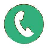 imagem do ícone da unha do polegar do telefone ilustração royalty free
