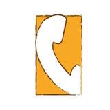 imagem do ícone da unha do polegar do telefone ilustração stock