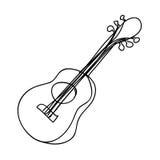 Imagem do ícone do instrumento da guitarra Fotos de Stock