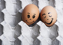 A imagem do amor eggs pares Fotografia de Stock Royalty Free