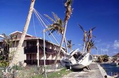 Imagem do arquivo do ciclone Hugo em 1989 Fotos de Stock