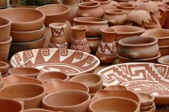 A imagem do artesão, HOME fêz os produtos, feitos por indianos. Fotografia de Stock