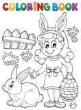 Imagem 2 do assunto da Páscoa do livro para colorir Imagem de Stock