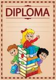 Imagem 7 do assunto do diploma ilustração stock