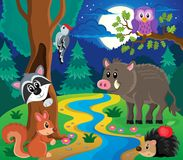 Imagem 7 do assunto dos animais da floresta Foto de Stock