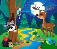 Imagem 8 do assunto dos animais da floresta Foto de Stock