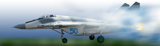 imagem do avião de combate militar no close-up do céu imagem de stock royalty free