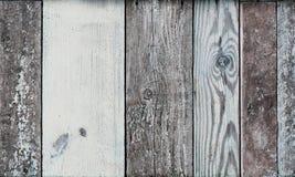 A imagem do azul pintado resistiu ao painel da madeira do vintage Fotografia de Stock
