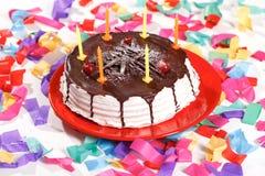 Imagem do bolo de aniversário Imagem de Stock Royalty Free