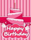 Imagem do bolo do cartão de aniversário Fotos de Stock