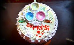 Imagem do bolo do feliz aniversario Fotografia de Stock