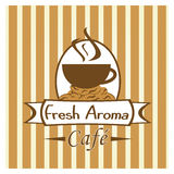 Imagem do café ou da cafetaria Foto de Stock Royalty Free