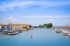 Imagem do canal em Veneza Fotos de Stock Royalty Free