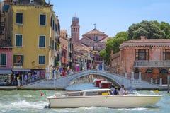 Imagem do canal em Veneza Fotografia de Stock